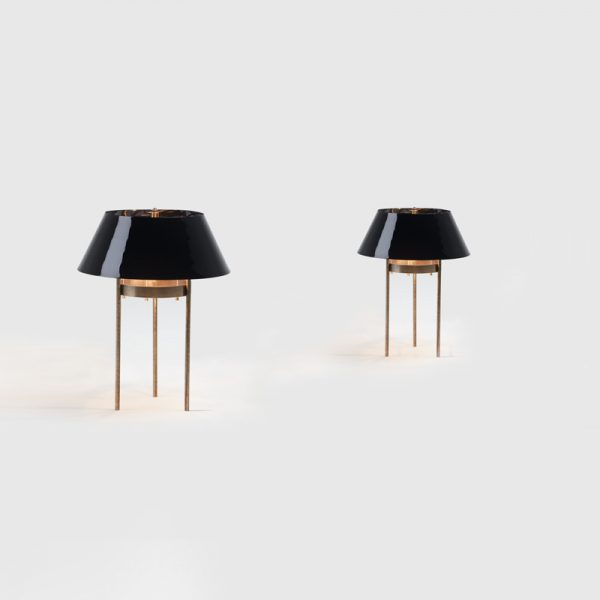 Luni Table Lamp Double view by Mapswonders.com