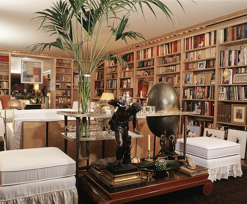 Library-bibliothèque-55-Rue-De-Babylone--Paris--Yves-Saint-Laurent--Pierre-Berge-Home-Apartment--House--Mapswonders